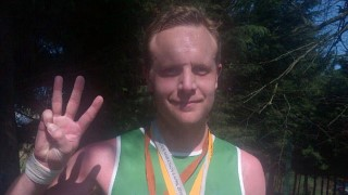 Nick Turner after running a marathon