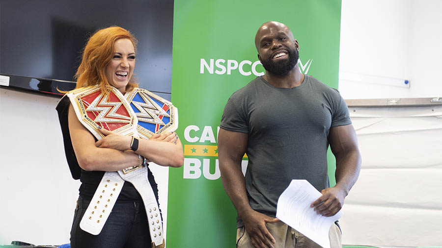 NSPCC and WWE Call out Bullying logo