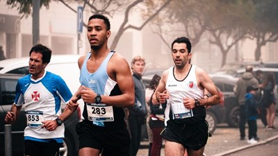 Men running in a race
